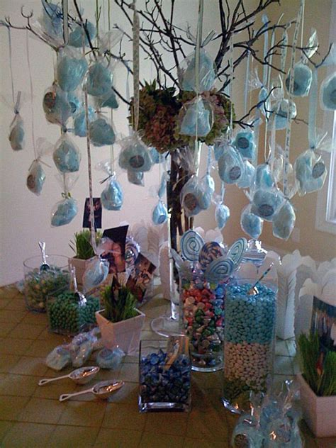 tables decor cotton candy tree  candy table ideas