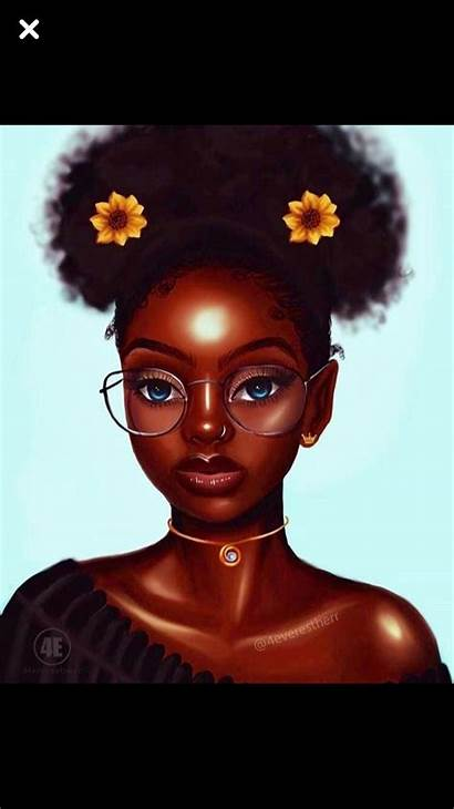 Drawings Wallpapers Cartoon Drawing Afro Woman Cave