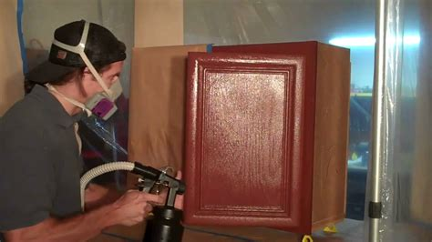 refinishing kitchen cabinets youtube