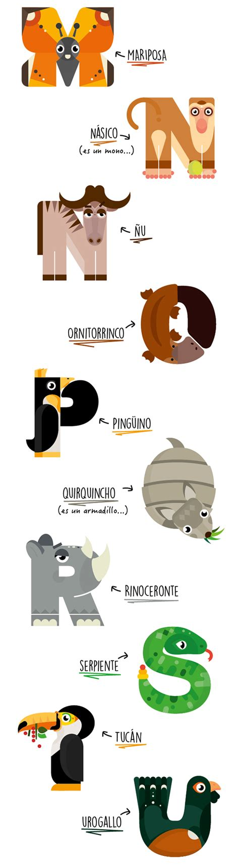 animalario animal alphabet  behance letras animal