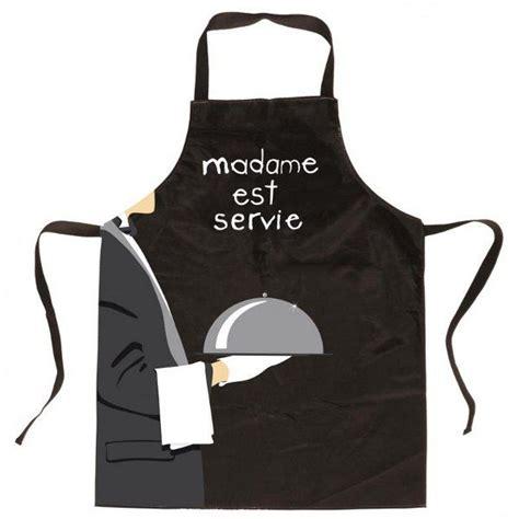 tablier de cuisine noir tablier de cuisine noir madame est servie achat vente