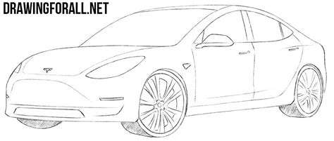 Tesla Car Coloring Pages