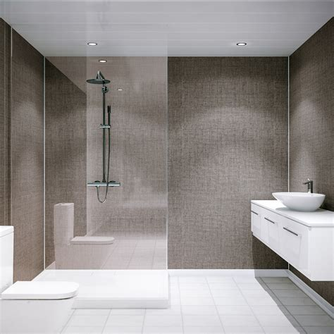 Bathroom Shower Walls - multipanel classic umber brocade hydro lock tongue