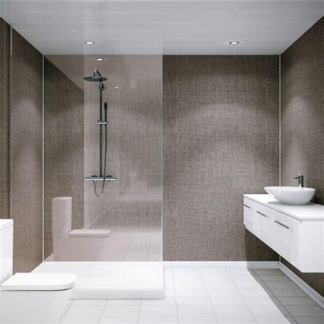 multipanel classic umber brocade unlipped bathroom wall panel