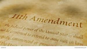 Historic Document 11th Amendment Stock Animation | 5453616
