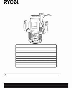 Ryobi Router Re601 User Guide