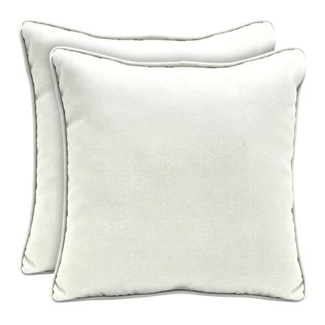 white outdoor pillows home decorators collection sunbrella canvas white square