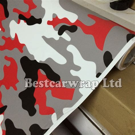 matte glossy snow camouflage vinyl wrap sheet with air release arctic camo car wrap