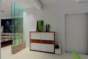 Glass Partition Between Entrance Living Room House - Home ...