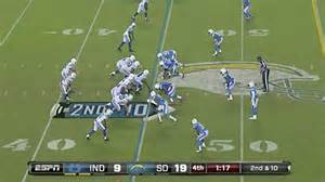 Indianapolis Colts 9 San Diego Chargers 19