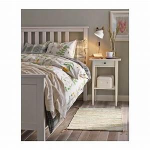 Cadre De Lit 140x200 : hemnes cadre de lit teint blanc lit 140x200 hemnes et ikea ~ Teatrodelosmanantiales.com Idées de Décoration