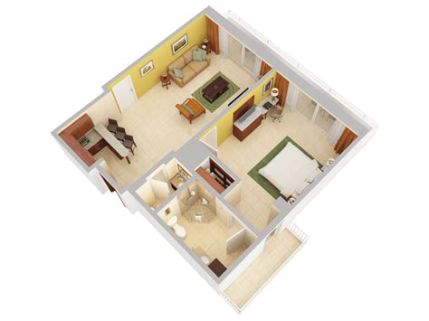 3d floor plans caribe san juan