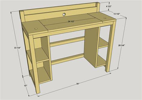 small computer desk buildsomethingcom