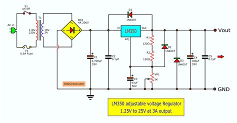 Adjustable Voltage Regulator Eleccircuit