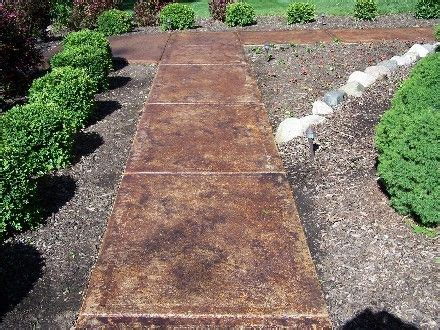stained concrete walkway stained concrete walkway landscape outdoor living ideas pinterest