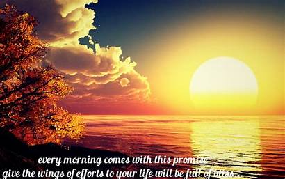 Morning Sun Wallpapers Quotes Rise Rising Lovely