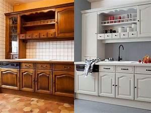 Peindre Meuble Cuisine : peinture meuble cuisine bois blanc super d co ~ Melissatoandfro.com Idées de Décoration