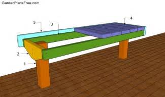 Building A Deck Bench by Deck Bench Plans Free Free Garden Plans How To Build