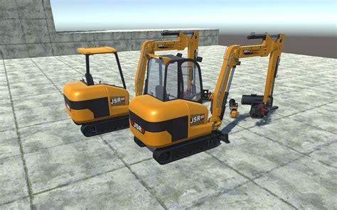 mini excavator jsr   mini excavator excavator unity asset store