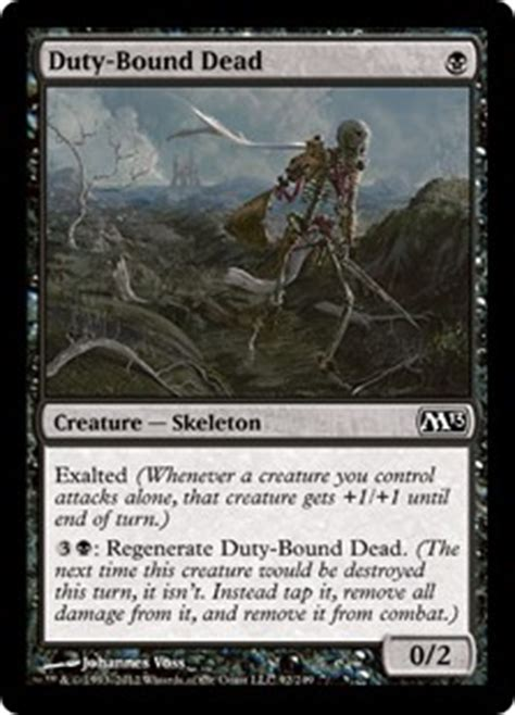 Mtg Skeleton Deck by Duty Bound Dead Magic 2013 Gatherer Magic The Gathering