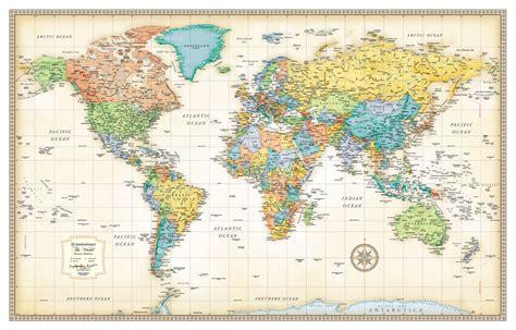 rand mcnally maps and directions rand mcnally classic edition world wall map poster