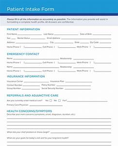 Free Patient Intake Form Template