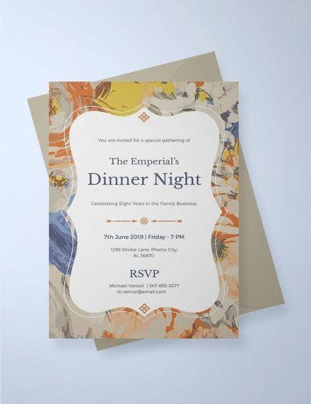 23+ Dinner Invitation Card Templates PSD AI Word
