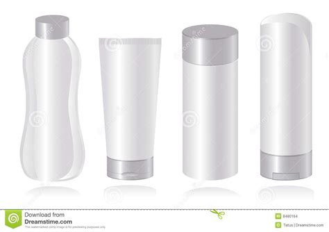 Set Of Cosmetic Container Templates. Vector-illust Stock
