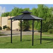 Sunjoy Steel BBQ Gazebo Lowe 39 S Canada Pool Design Using Brick With Gazebo Outdoor Furniture Setting Pool Photos HGTV Outdoor Retreat Tropical Landscape Designs Completehome