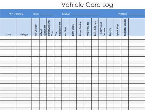 vehicle maintenance log  charlotte clergy coalition