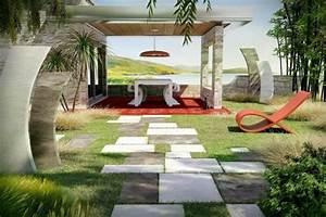 Sculpture De Jardin Contemporaine : d co jardin design 49 jardins modernes pour vous inspirer ~ Carolinahurricanesstore.com Idées de Décoration