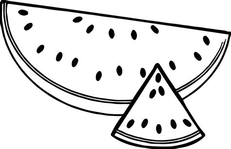 sliced summer watermelon   triangle coloring page