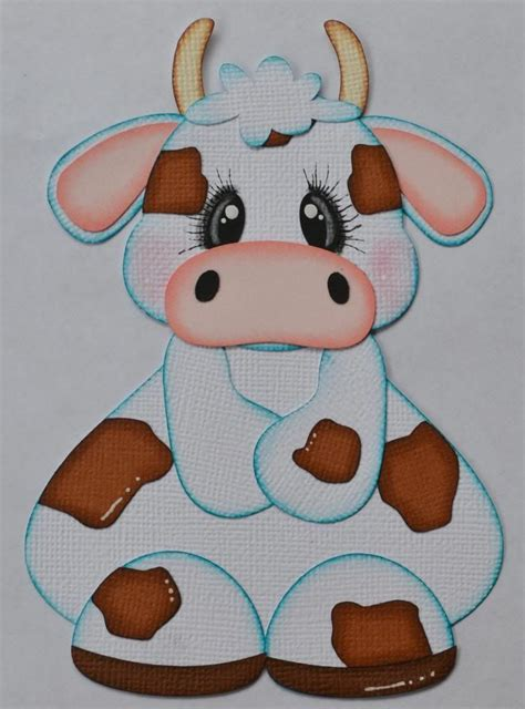 Details about Paper Piecing Cow for Scrapbook Pages Farm