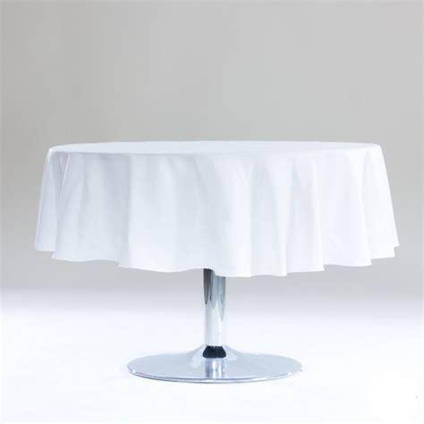 nappe ronde blanche anti tache  cm nappe de table pas cher