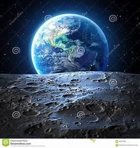 Terre De Lune Eschau : blue earth view from moon surface stock photo image of ~ Premium-room.com Idées de Décoration