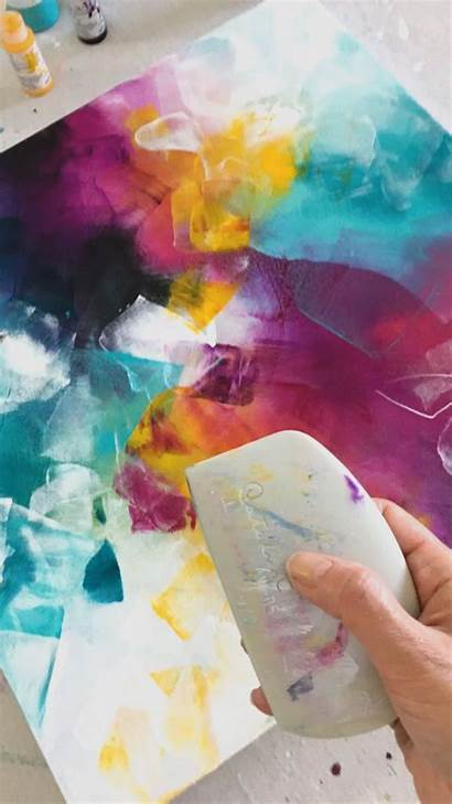 Painting Acrylic Wedge Abstract Paintings Acrylics Catalyst