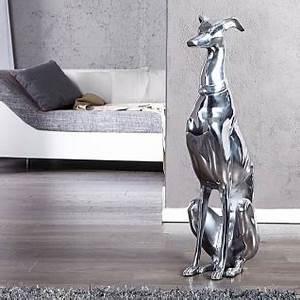 Große Buchstaben Deko : grosse deko skulptur windhund 70cm silber hundefigur aluminium hund kaufen bei ~ Sanjose-hotels-ca.com Haus und Dekorationen