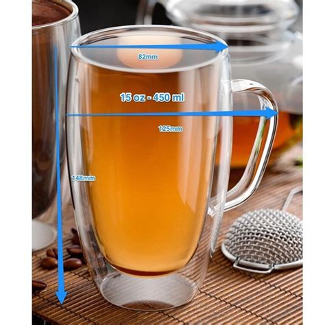 A wide variety of double glass wall coffee cups options are available to you, such as drinkware type, material, and feature. 15oz/450ml Double Wall Insulated Glass Coffee Mugs Tea Cups for Espresso Latte