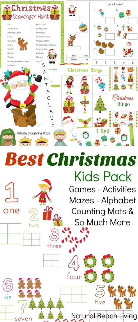 the best christmas activities pack for kids natural
