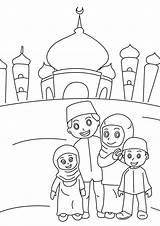 Mewarnai Gambar Masjid Coloring Ramadan Dari Romadecade Contoh Cartoon Ramadhan Poster Disimpan Sheets Preschool sketch template