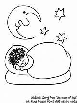 Coloring Sleep Pages Bedtime Sleeping Ocean Cartoon Story Popular Adults sketch template