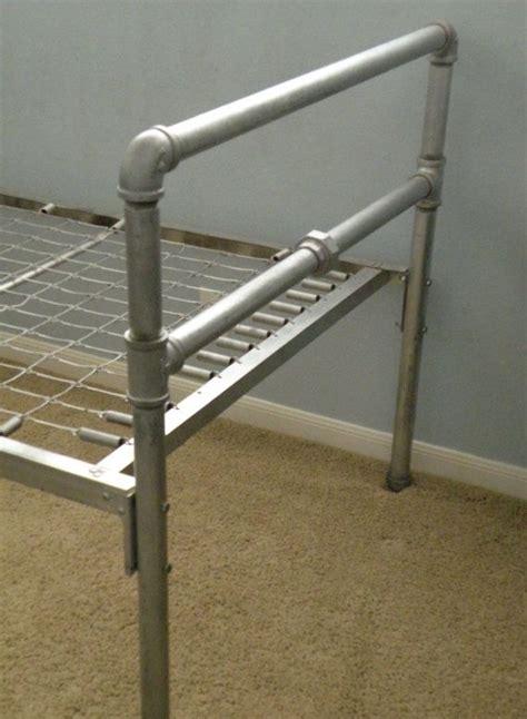industrial metal pipe twin bed  casitachic  etsy diy