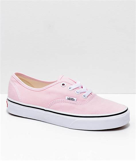 vans authentic abu abu pink vans authentic chalk pink true white shoes zumiez
