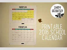 2016 Australian public school holidays {printable calendar}