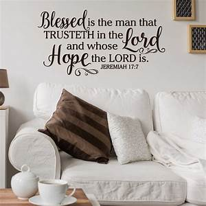 jeremiah 177 blessed is the man who trusteth in the With awesome kjv wall decals