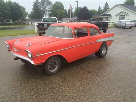1957 Chevy 2 Door Gasser Project 327 4 Speed Hot Rod