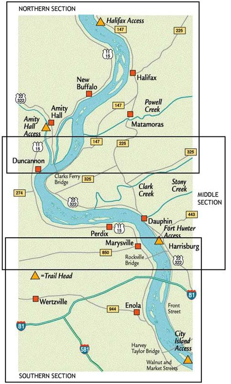 Pa Fish And Boat Commission Water Trails by River Trail Map
