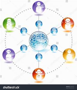 Social Network Diagram Chart Representing Network Stock