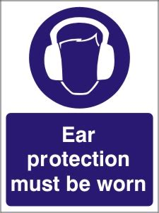 ear protection   worn health  safety sign map