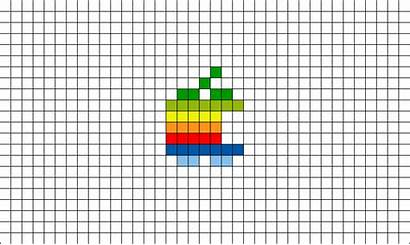 Pixel Apple Rainbow Template Brik Mac Likes